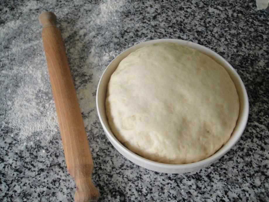 Dough after rising