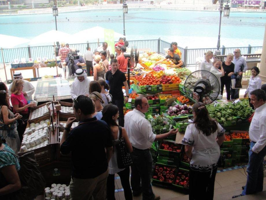 View of the Souk al Bahar farmers market