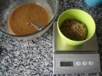 Cake mixture with sugar