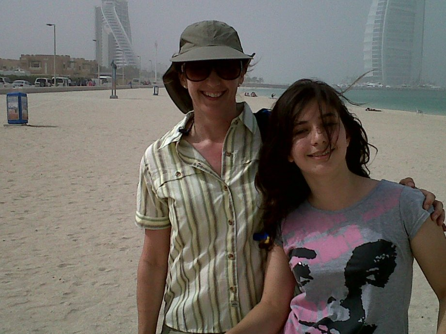 Beach hike in front of Burj al Arab