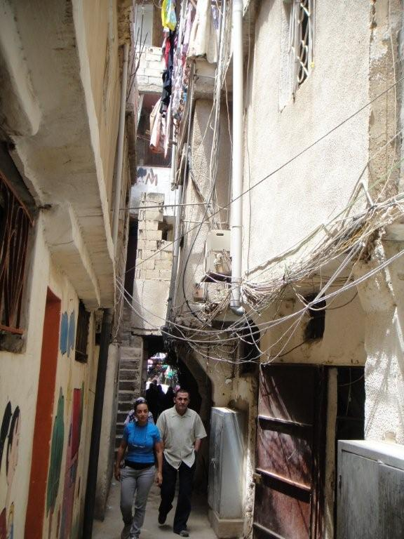 The alleyway leading to Beit Atfal Assumoud