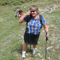 Tricia hiking