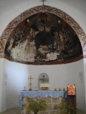Altar and frescoes