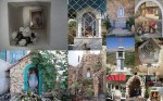 A collage of shrines