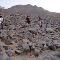 Stony terrain