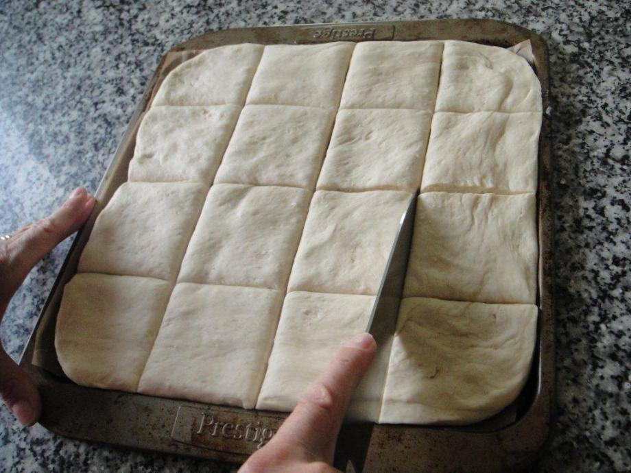 Pide dough on tray