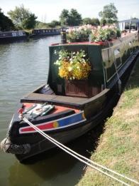 Pretty barges near Saul
