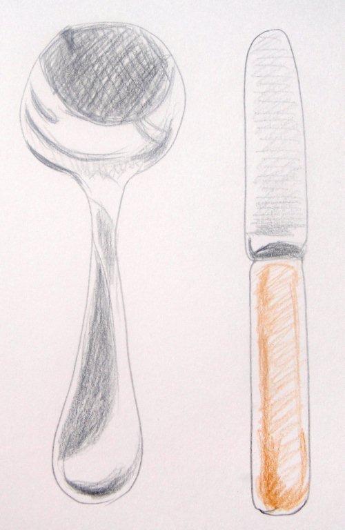 Illustrated cutlery