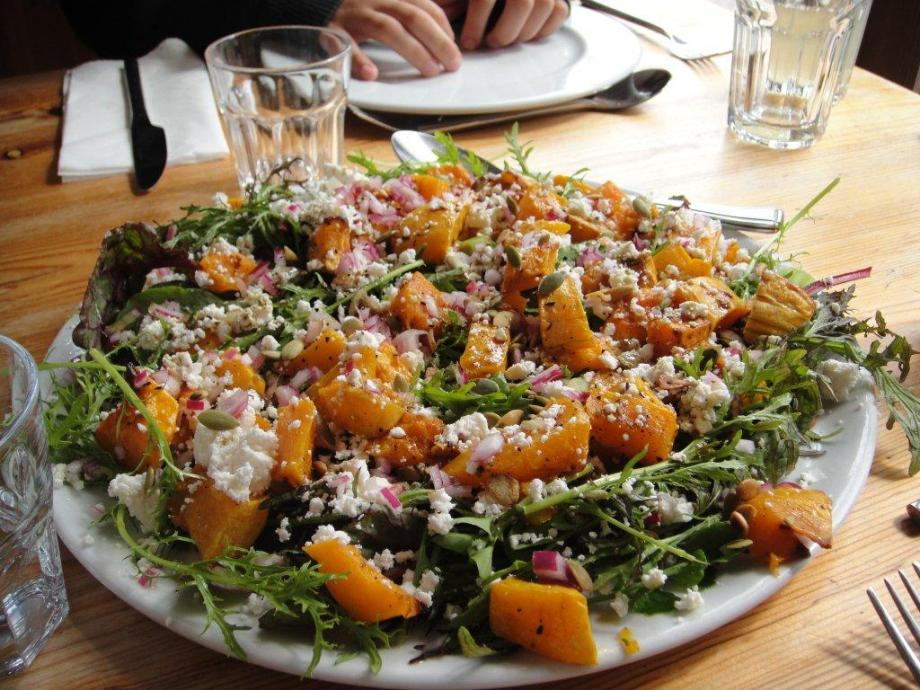 squash and smoked ricotta salad