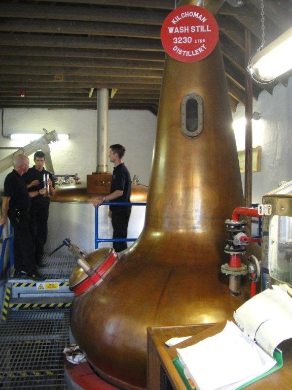 Inside the distillery