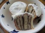 Cinnamon buns with vanilla icing