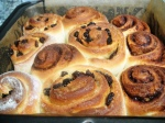 Chelsea and cinnamon buns baked in the tin