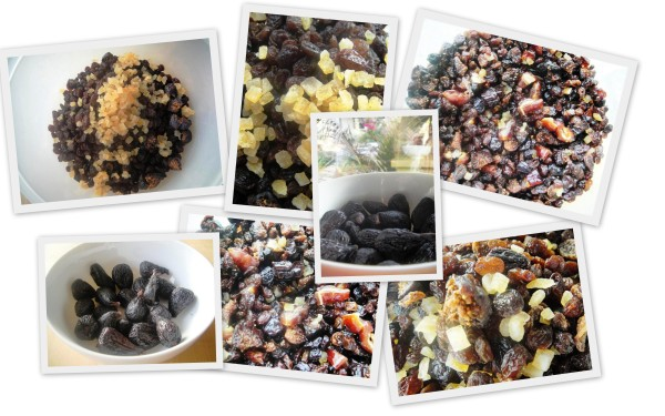 Dried fruit for Christmas cake