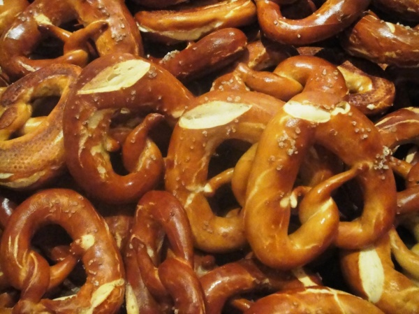 Pretzels at Oktoberfest in Dubai
