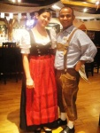 Staff in lederhosen