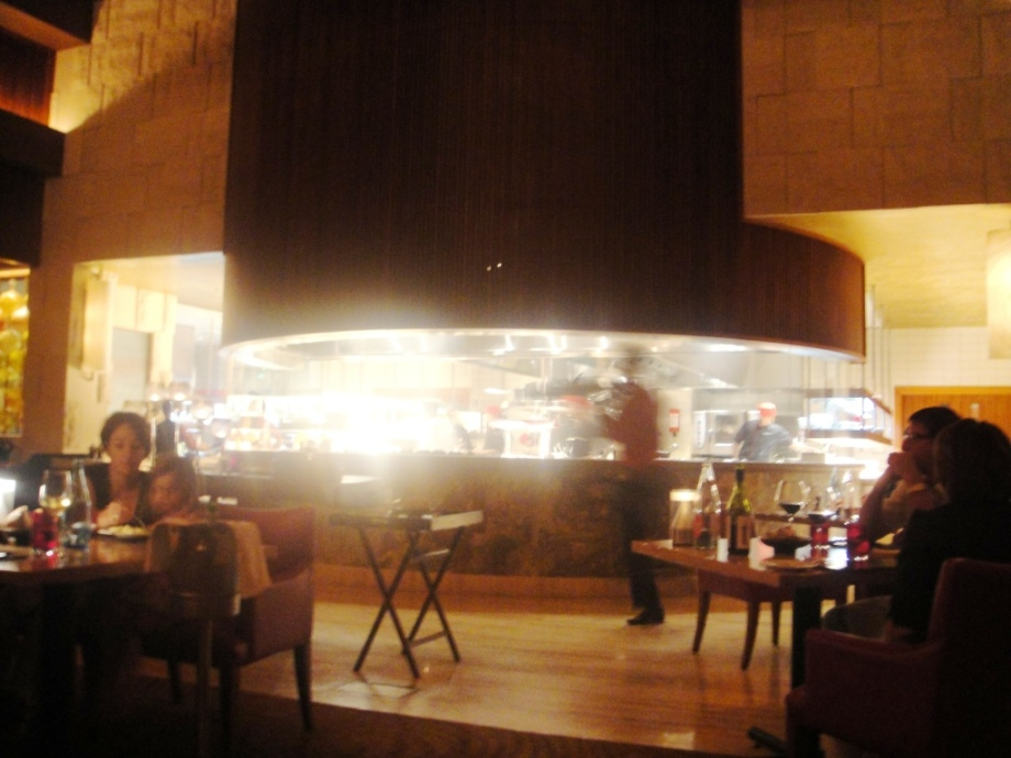 The open kitchen at Seafire