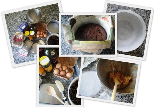 Making a Christmas cake