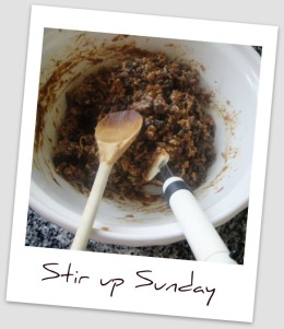Stirring the Christmas pudding