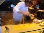 Giorgio Locatelli making the egg yolk pasta parcels