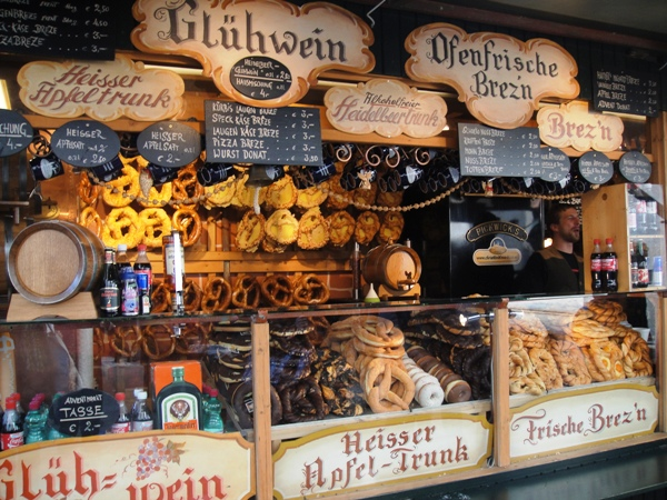 A german food stall
