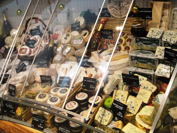 Cheese display at Lafayette Gourmet Dubai