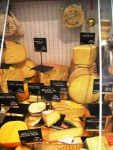 Cheese display at Lafayette Gourmet Dubai