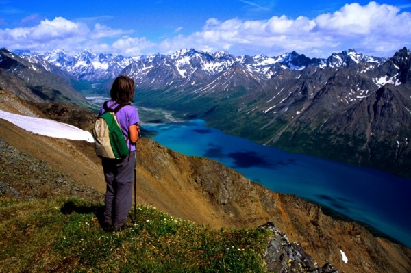 trekking in Alaska