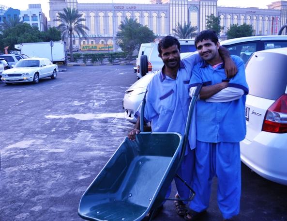 The wheelbarrow men