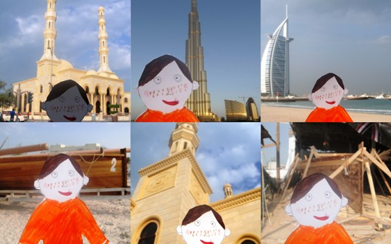 Dubai views with flat stanley