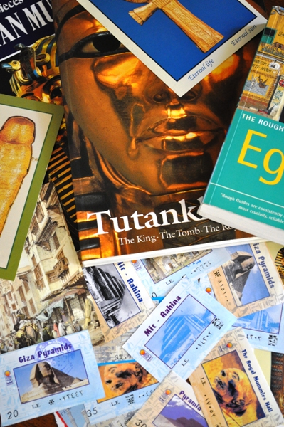 Tickets and books from Egypt