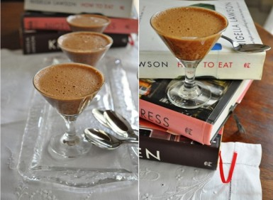 Nigella Childrens chocolate mousse and books