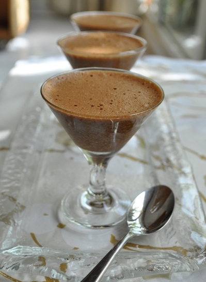 Children's chocolate mousses