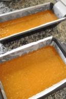 Cake mixture in tins
