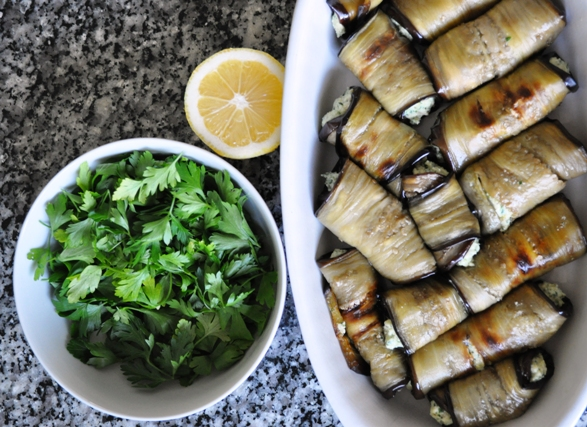 Involtini, parsley and lemon