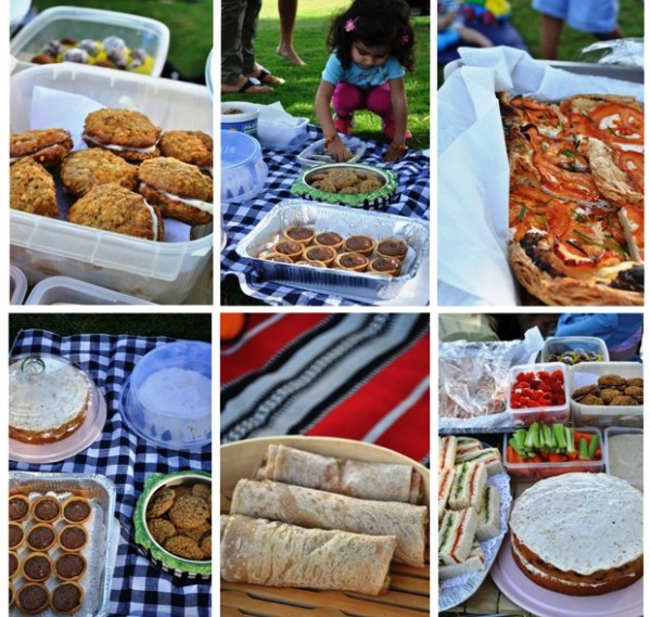 Food from the picnic