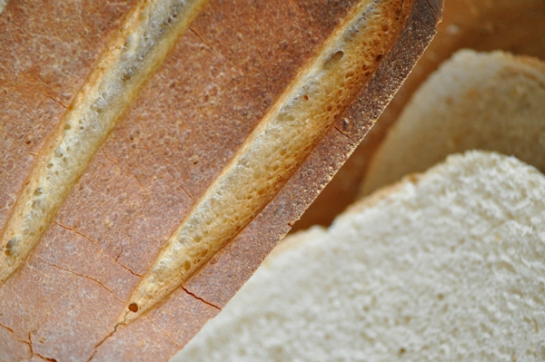 White loaf close up