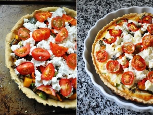 Roasted vegatable tart