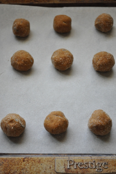 Roll and place on baking sheet