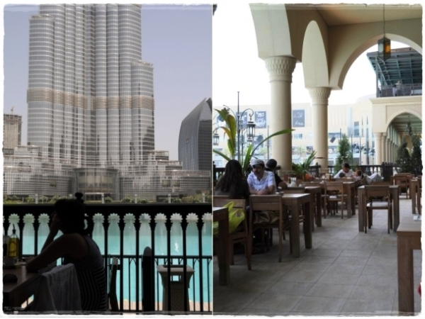 Burj Khalifa and Baker and Spice terrace