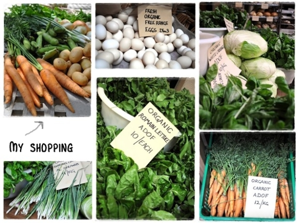 A selection of produce from the market