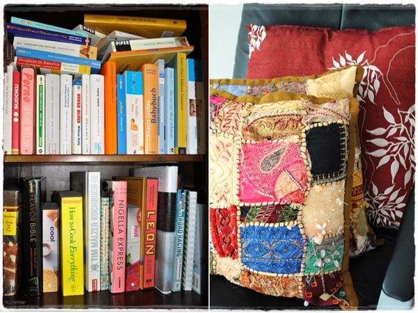 Books and cushions