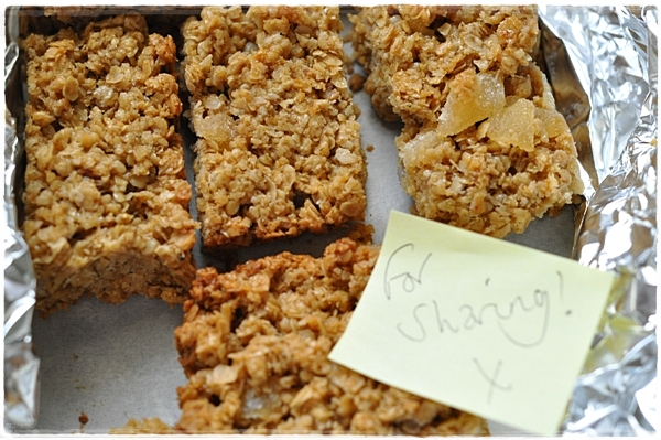 Ginger flapjacks