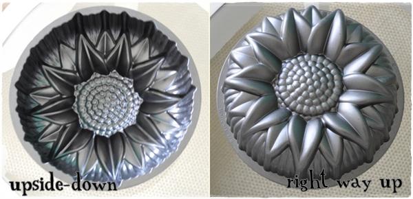 sunflower cake tin