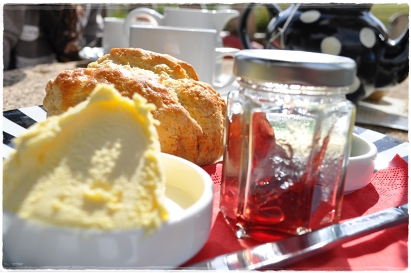 Cream tea at the River Cafe, Lower Slaughter