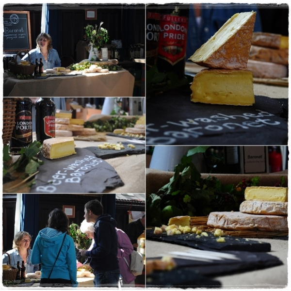 Baronet cheeses on The Old Cheese Room stand