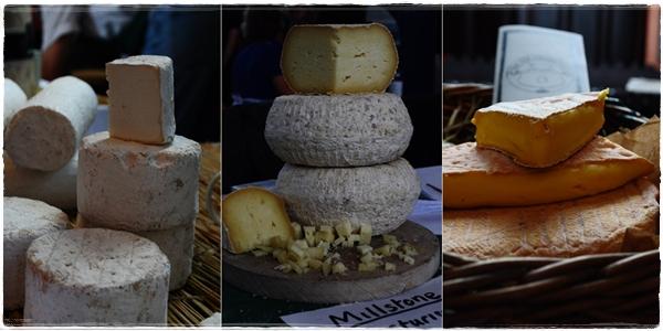 Cheeses at the Tavistock cheese fair