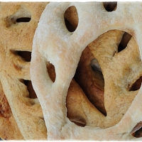 Roquefort and pear fougasse