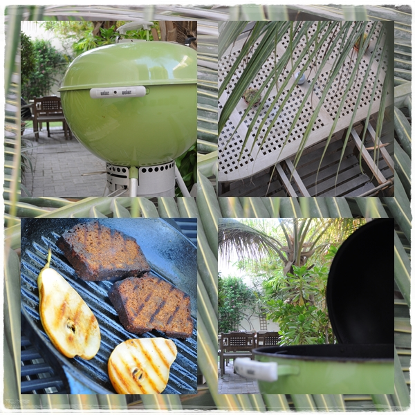 Green barbecue in my garden