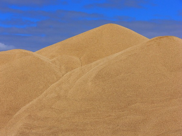 Mountains of grain