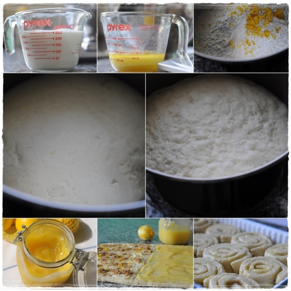 Making Lemon buns
